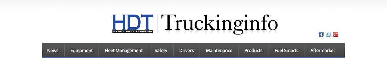 A screenshot of truckinginfo.com