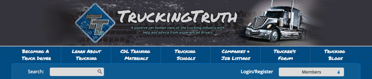 A screenshot of truckingtruth.com