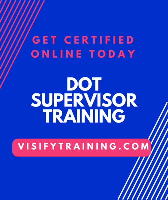 DOT Supervisor Training Online